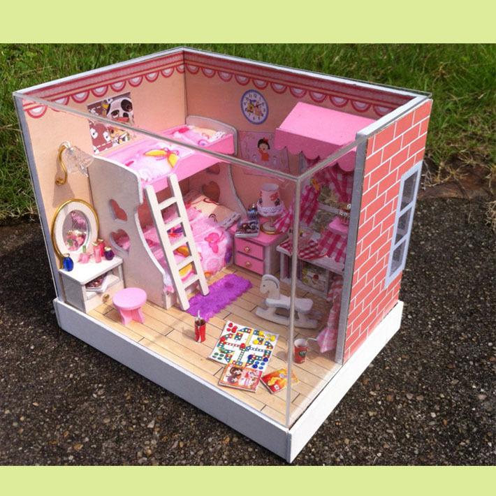 Đồ chơi mô hình nhà gỗ Diy giá rẻ cho bé