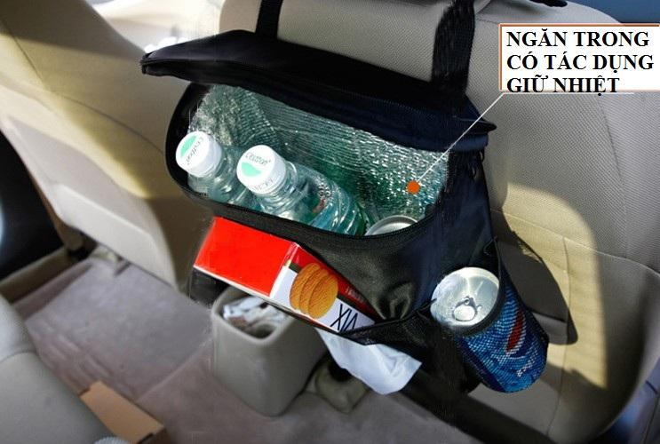 Túi giữ nhiệt đeo lưng ghế ô tô đa năng