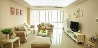 Mẫu thiết kế phòng khách căn hộ chung cư tiết kiệm không gian