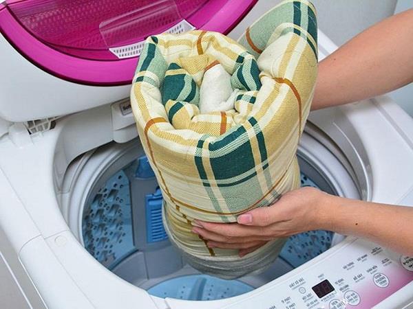 Hoàn toàn có thể giặt chăn bằng máy giặt