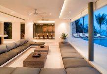 Vì sao không nên xây xà ngang ép đỉnh trong phòng khách?