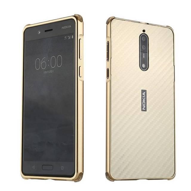 Ngoài màu đen bạn còn có thể lựa chọn ốp màu trắng và vàng cho Nokia 8