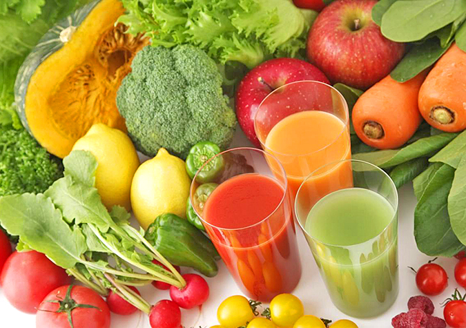 Trái cây, rau xanh và các nguồn dinh dưỡng khác
