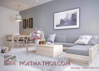Cách bài trí sofa gỗ nhỏ gọn nhà chung cư