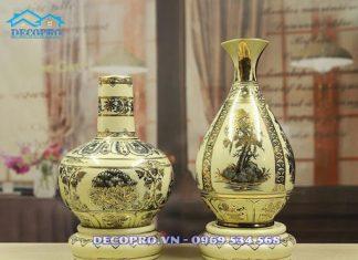Mẫu bình gốm Chu Đậu phù hợp làm quà tặng sếp nữ